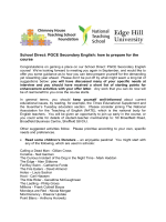 PGCE Secondary English: how to prepare for the course - Edge Hill