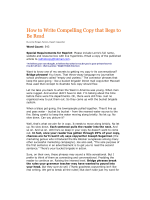 How to Write Compelling Copy that Begs to Be Read - Red Hot Copy