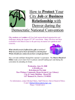 DNC Mania: How to Protect Your Job or City Contract during the