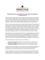 """Off the Bench: How to Get Health Pros into the Game - Project Play"