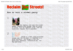 Reclaim the Streets: How to sort a street party... - Tactical Media Files