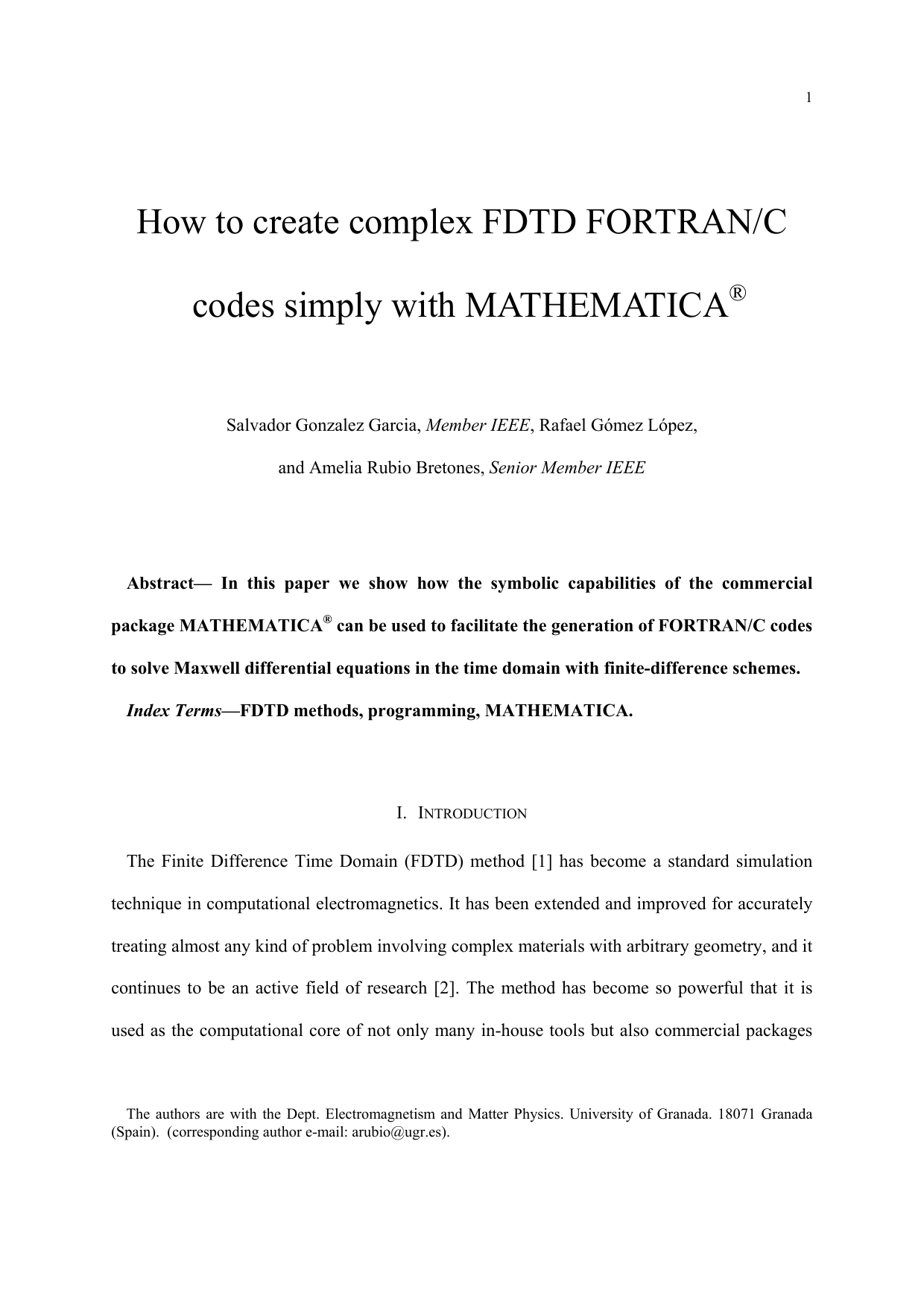 How to create complex FDTD FORTRAN/C codes simply with