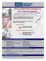 How to Submit New Business to AIG - American General