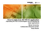 How to make true 3D-TSV IC application - SEMICON Taiwan