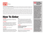 How To Enter - publication design
