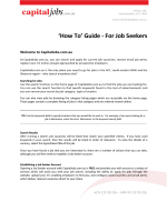 How To Guid How To Guide - For Job Seekers For Job Seekers