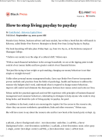 Kelowna Capital News - How to stop living payday - Pamela Nelson