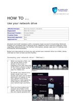 HOW TO - MAC - Use your network drive - AUSTRALIAN NATIONAL