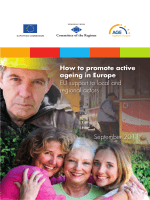 How to promote active ageing in Europe EU support to local and