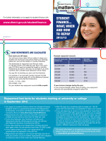 2012 Student Finance.... what, when and how to repay