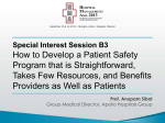 How to Develop a Patient Safety Program that is Straightforward