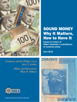 Sound Money Why It Matters, How to Have It - Macdonald-Laurier