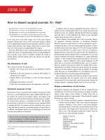 How to dissect surgical journals: XI Risk - ANZ Journal of Surgery