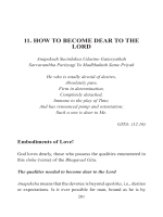 11. HOW TO BECOME DEAR TO THE LORD