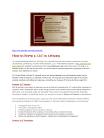 How to Form a LLC in Arizona