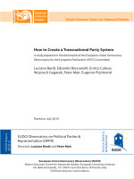 How to Create a Transnational Party System - European University