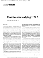How to save a dying U.S.A. - Executive Intelligence Review