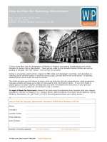 How to Plan for Success, Manchester - The Association of Women in