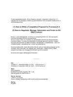 (1) How to Write a Competitive Proposal for Framework 6 (2) How to