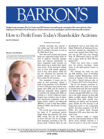 How to Profit From Todays Shareholder Activism How to Profit From