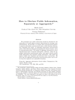 How to Disclose Public Information, Separately or Aggregately?