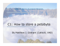 C1: How to store a petabyte - iwinac