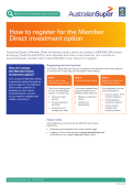 How to register for the Member Direct investment - AustralianSuper
