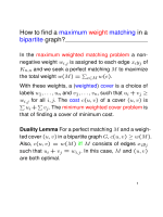 How to find a maximum weight matching in a - ETH - D-INFK - TI
