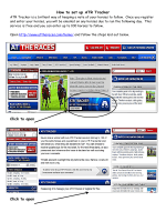 How to set up ATR Tracker Click to open Click to