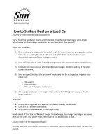 How to Strike a Deal on a Used Car - Sun Federal Credit Union