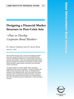 Designing a Financial Market Structure in Post-Crisis Asia -How to