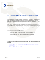 How to Optimize MS Outlook Exchange Traffic Over SSL - Silver Peak