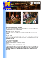 How to play Chinese Craps - The Basics Also known as Big and