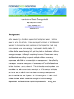 How to do a Basic Energy Audit Background: - Profitable Green