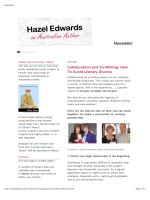 Collaboration and Co-Writing: How To Avoid - Hazel Edwards