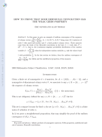 How to prove that some Bernoulli convolution has the weak Gibbs