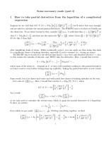 Some necessary math (part I) 1 How to take partial derivatives from