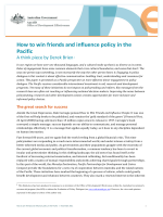 How to win friends and influence policy in the Pacific - Office of