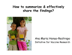 How to summarize  effectively share the findings?