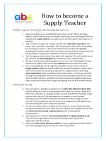 How to become a Supply Teacher - ABC Teachers
