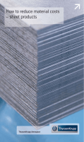 How to reduce material costs – sheet products - ThyssenKrupp