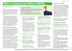 How to implement Refusal Skills...