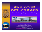 How to Build Trust During Times of Change - IPMA-VA