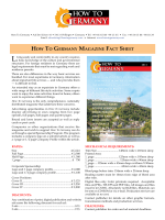 HOW TO GERMANy MAGAZINE FACT SHEET