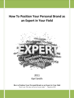 How To Position Your Personal Brand as an Expert in Your Field