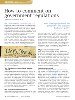 How to Comment on Regulations - American Nurses Association