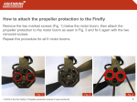 How to attach the propeller protection to the Firefly