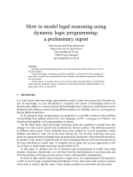 How to model legal reasoning using dynamic logic programming: a