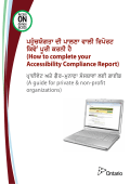 How to complete your Accessibility Compliance Report - Private and