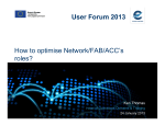 How to optimise Network/FAB/ACCs roles? User - Eurocontrol
